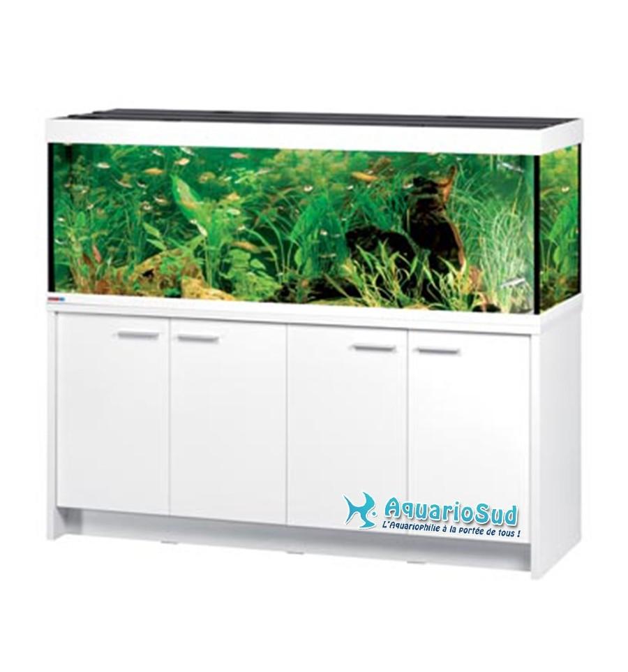 Aquarium eheim mp scubaline 640 finition blanc brillant for Meuble aquarium