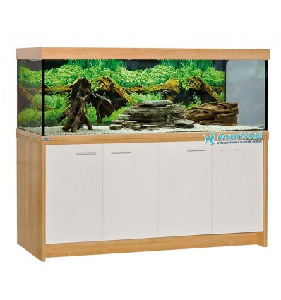 Combinaison Aquarium, meuble, éclairage  MP Eheim Scubaline 640 Noyer/Blanc