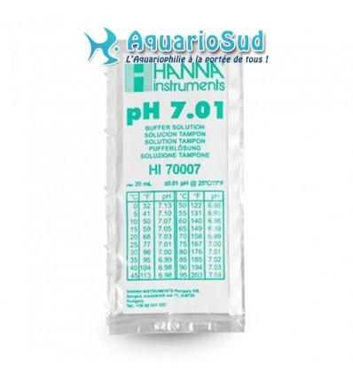 HI 70007 - Solution tampon pH 7.01, 1 sachet de 20 mL