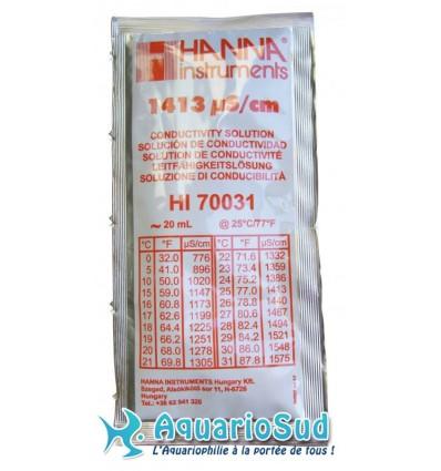 HANNA HI70031 Solution d'étalonnage 1413 µS pour conductivimètre