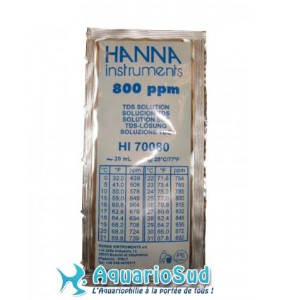 Solution d'étalonnage pour conductivimètre (800 ppm)