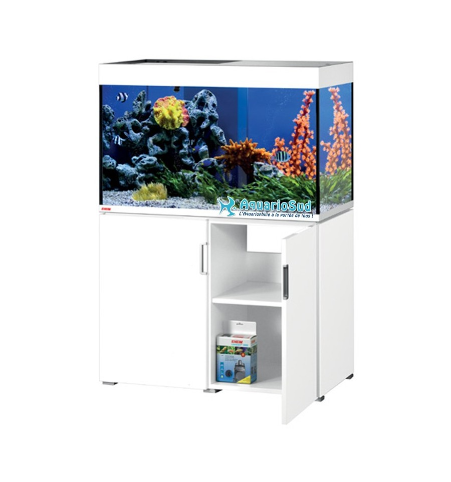 ensemble aquarium et meuble eheim mp incpiria marine 300 blanc. Black Bedroom Furniture Sets. Home Design Ideas